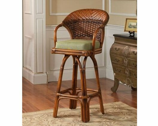 Autumn Morning Rattan and Wicker Barstool