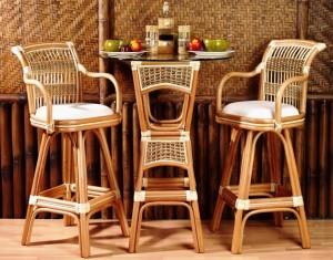 Island Paradise Rattan Bar Table & Barstools