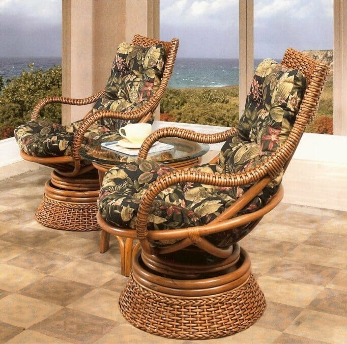 Biscayne Wicker Swivel Rocker