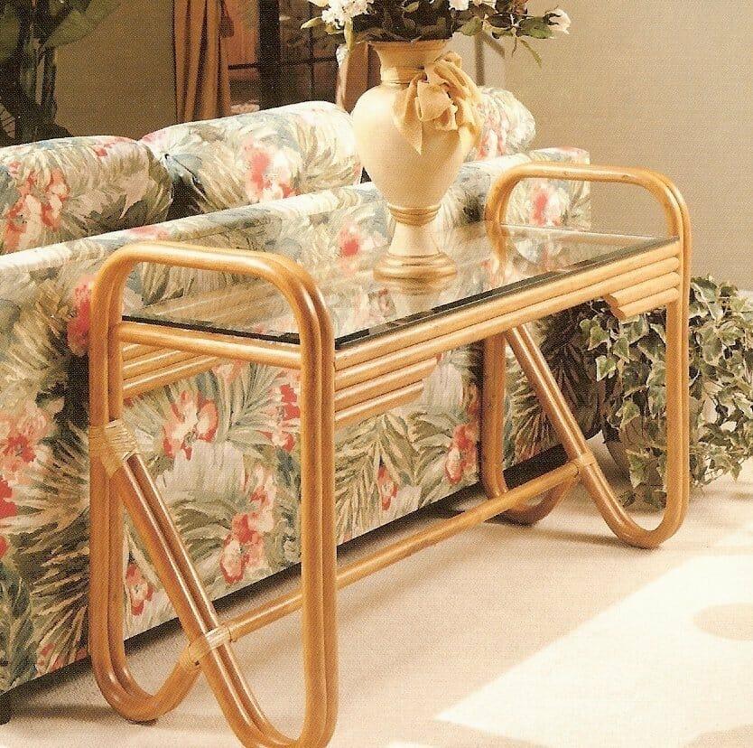 Kauai Rattan Sofa Table