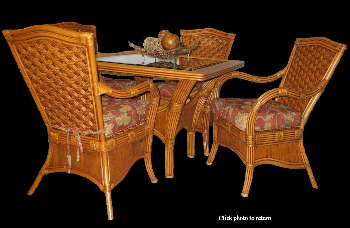 Wicker furniture set lloyd flanders nantucket wicker for Difference between rattan and wicker furniture