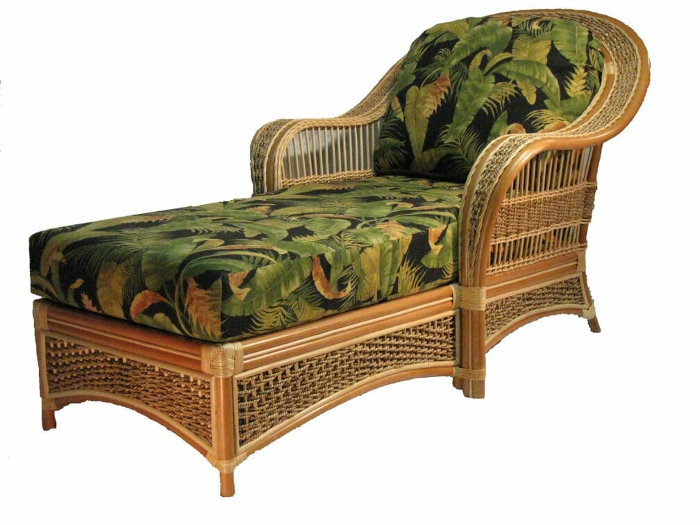 - Island Paradise Rattan & Wicker Chaise Lounge Kozy Kingdom