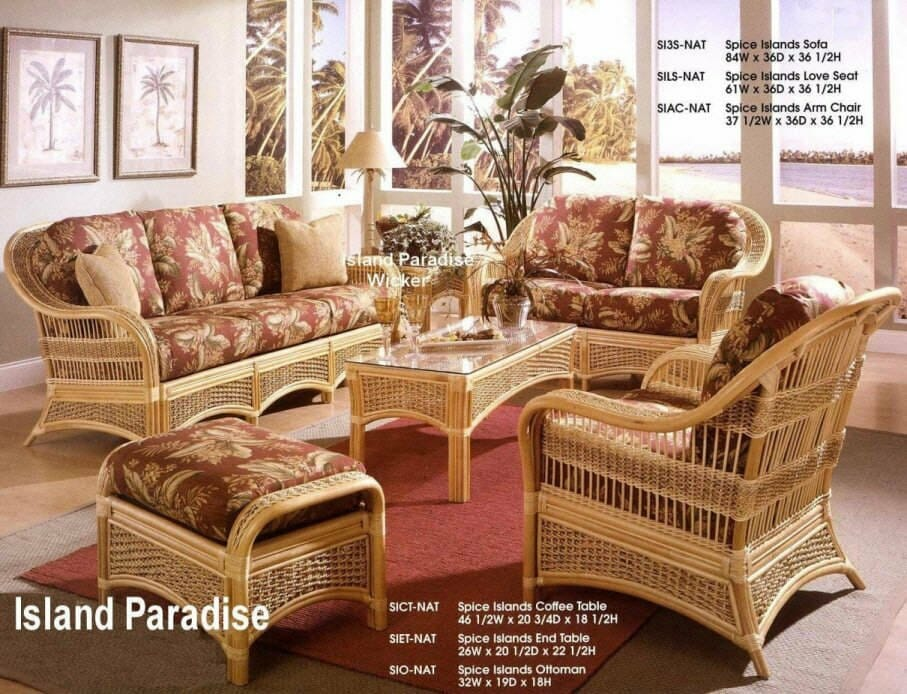 Island Paradise Rattan Furniture | Kozy Kingdom