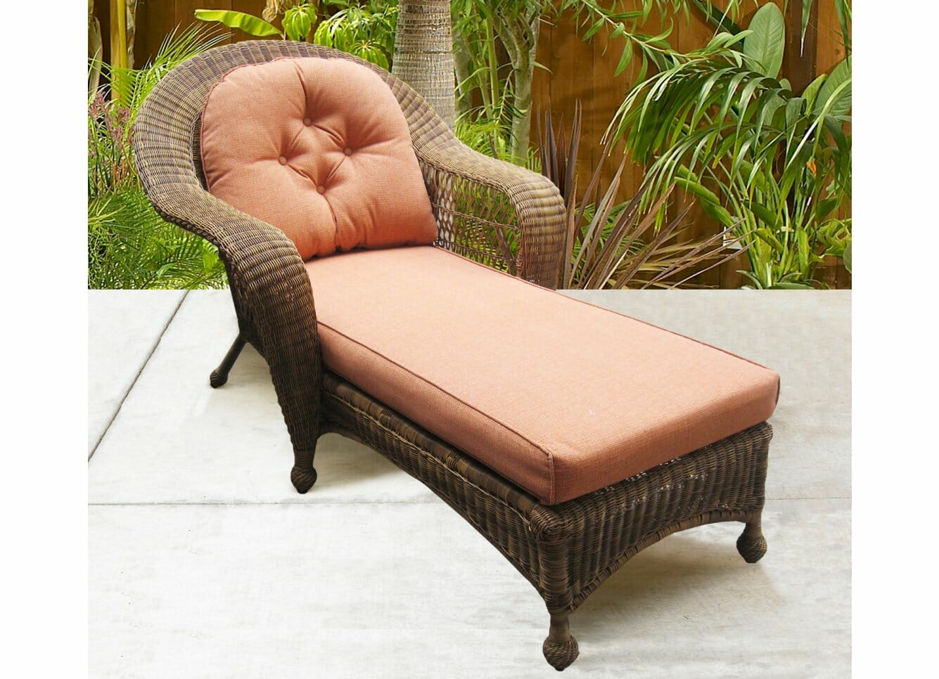 Long Island Outdoor Wicker Chaise Lounges