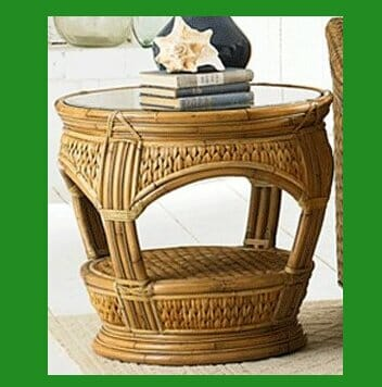 Natural Sea Grass Round End Table