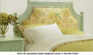Upholstered Wicker Headboard