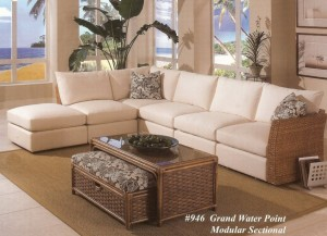 Grand Water Point Wicker Modular Sectional