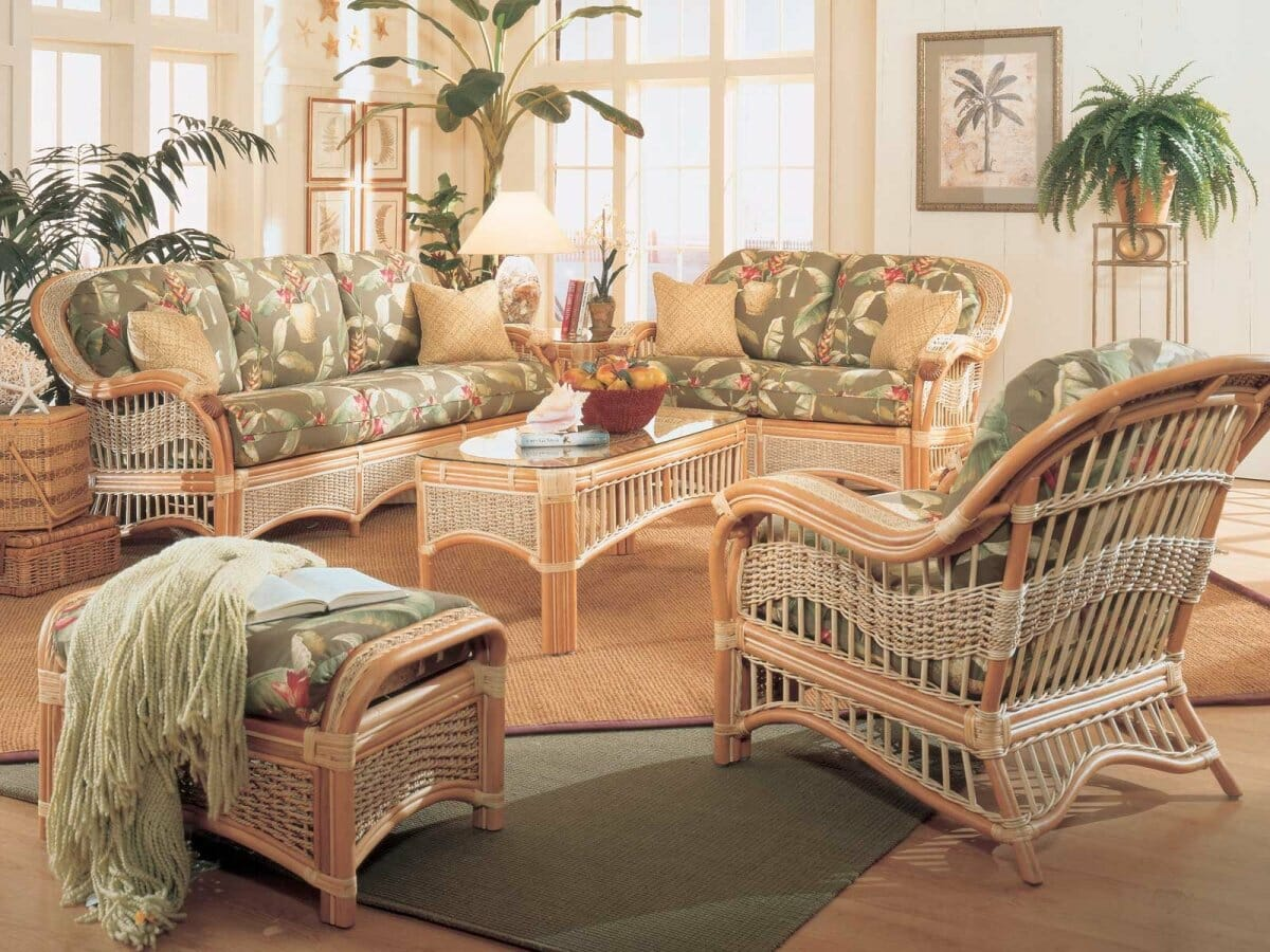 Seascape Rattan banana leaf wicker | Kozy Kingdom