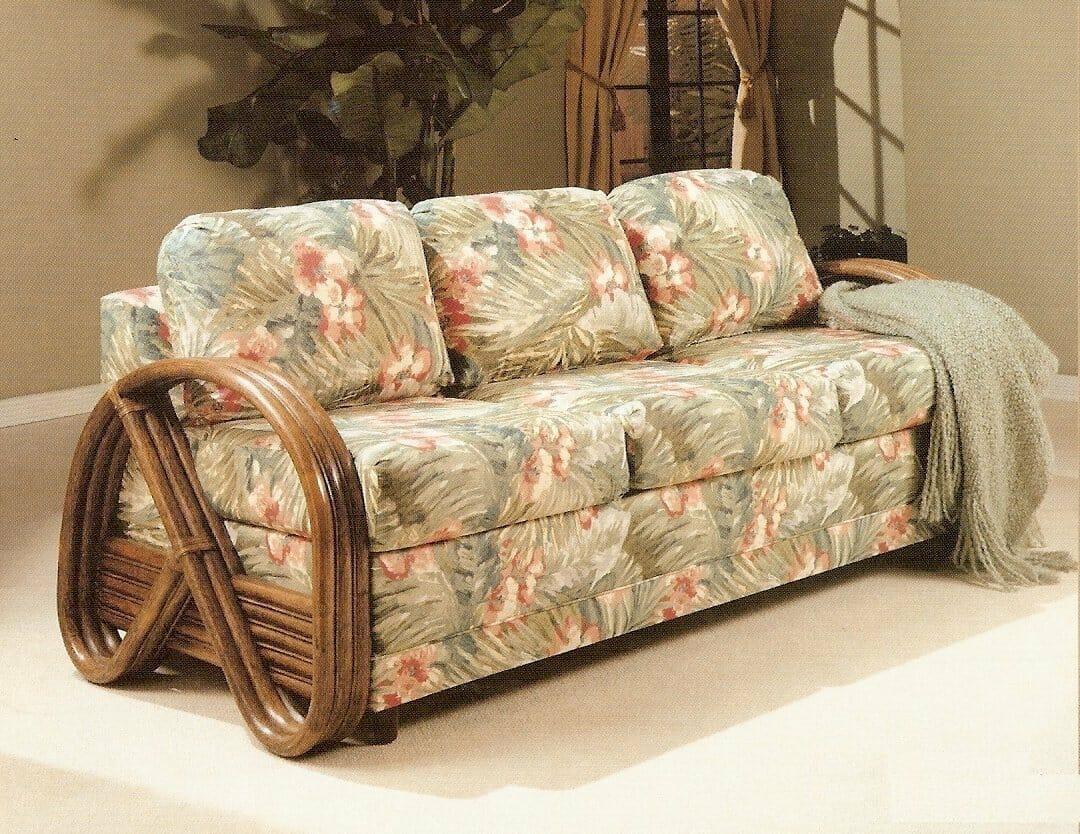 Kauai Rattan Sofa Sleeper