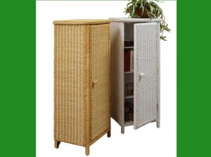 4060 Tall Wicker Cabinet w-h