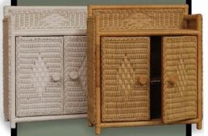 4805 Full Door Wicker Wall Shelf