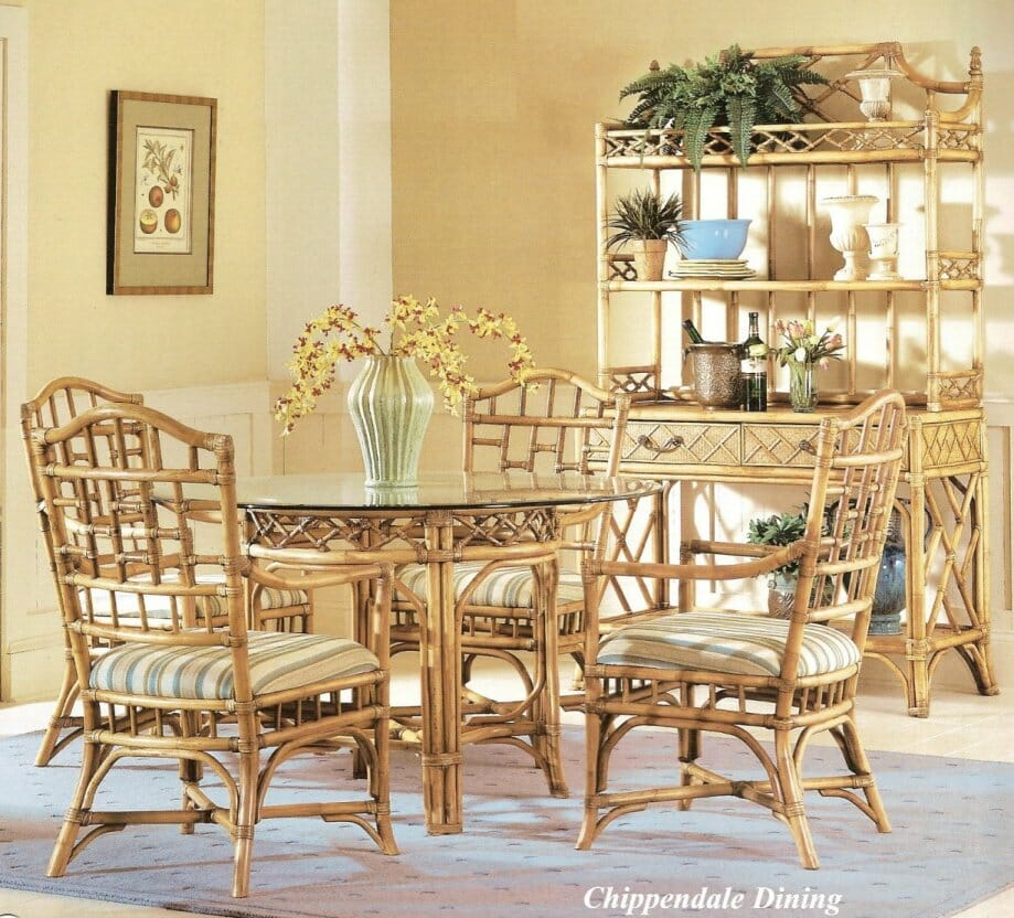 Chippendale Rattan Dining Furniture