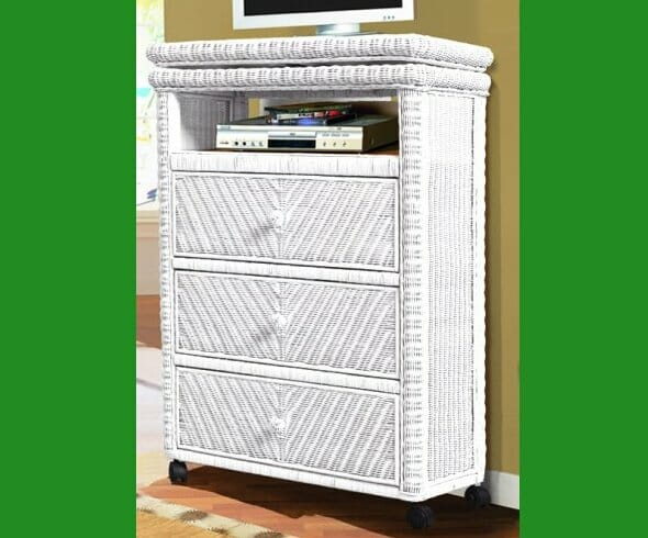 Santa Cruz Tall Wicker Tv Stand