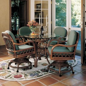 South Sea Caster Dining Set