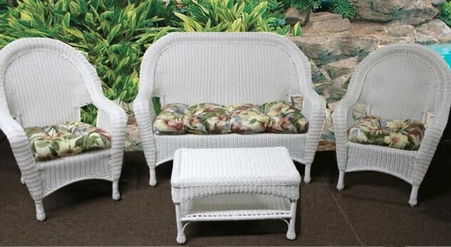 patio set cushions tufted style kozy kingdom