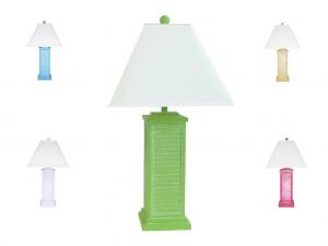 Wicker rattan table lamps wicker floor lamps pr151 shutter table lamp aloadofball Image collections