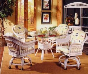 Bermuda Caster Rattan & Wicker Dining Furniture