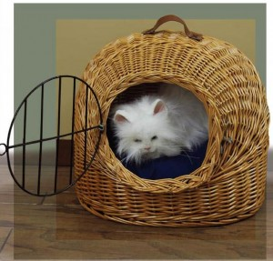 Wicker Cat Carrier Basket