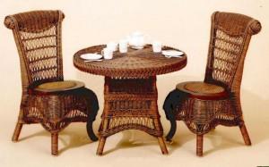 Victorian Wicker Child Tea Set