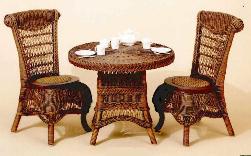 Perfect Victorian Wicker Child Tea Set