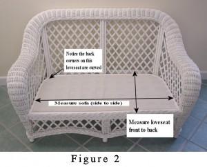 curved back cushion illustration
