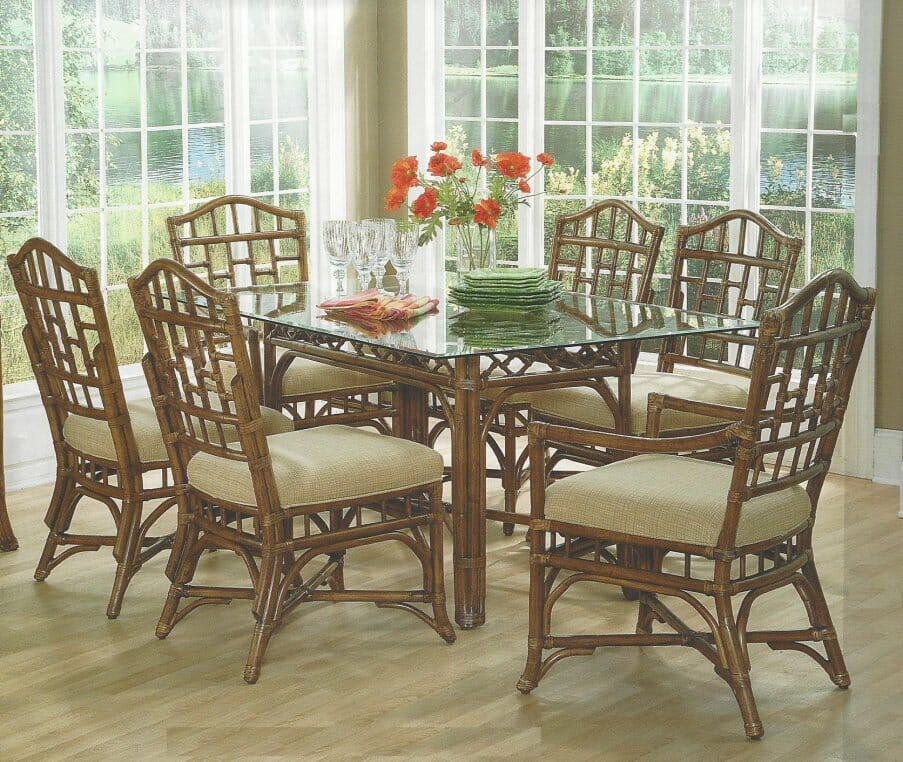 Chippendale Rattan Dining 7 Piece Set