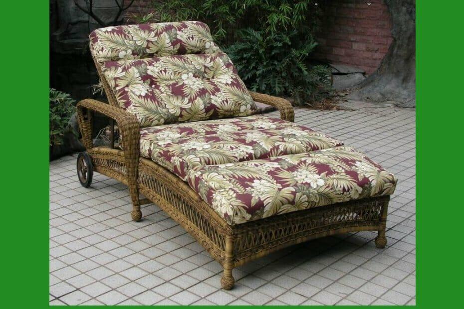 Long island wicker double adj chaise lounge kozy kingdom for Outdoor furniture hwy 7