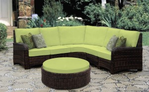 Saint Tropez Wicker Sectional