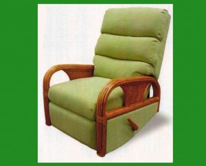Snug Harbor rattan recliner swivel rocker