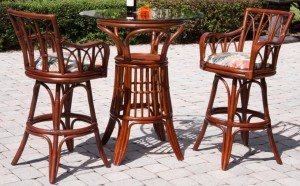 rattan bar stool -pub table