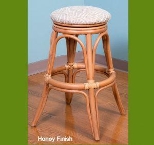 Universal Rattan Barstool - honey finish