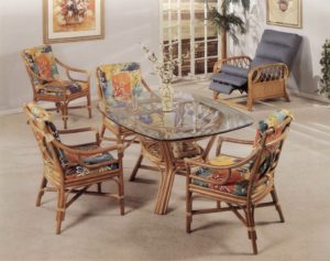 25430 Rectangular Rattan Dining Table