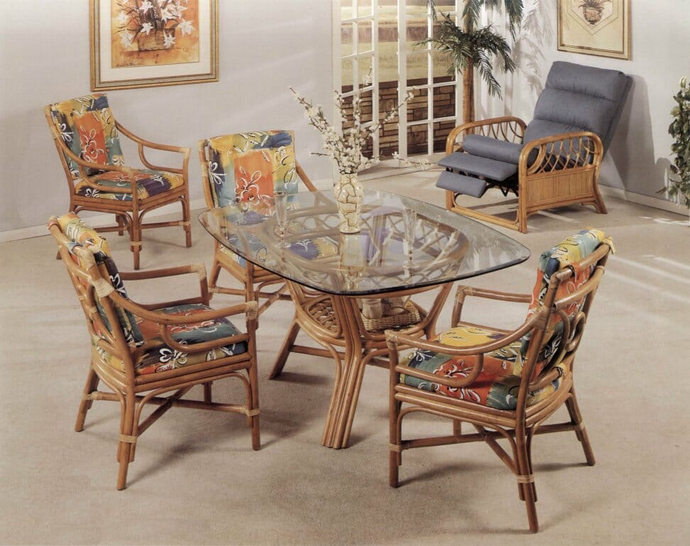 25430 rattan dining sets kozy kingdom - Bamboo dining room furniture ...
