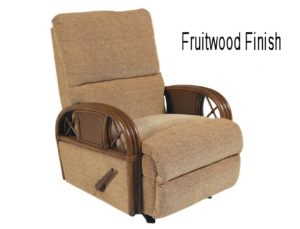 rattan recliner - fruitwood finish