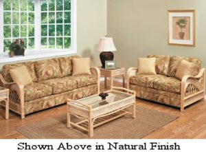 Rattan and Wicker Set Natural Finish