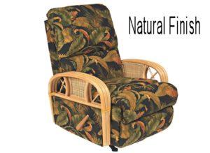 rattan recliner - natural