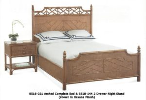 Arched Complete Rattan Bed