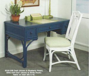 Aruba Rattan Desk & Wicker Desk and Chair Set | Wicker Office Furniture