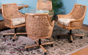 Close Weave Wicker Dining