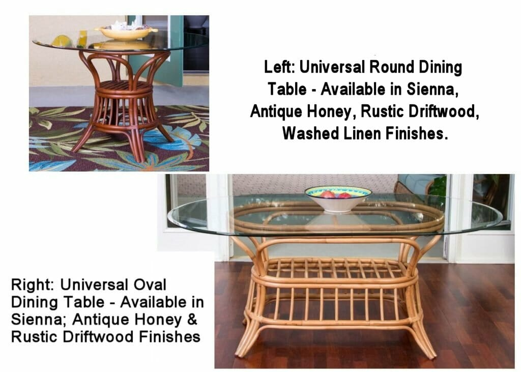 Universal Rattan Dining Tables | Kozy Kingdom