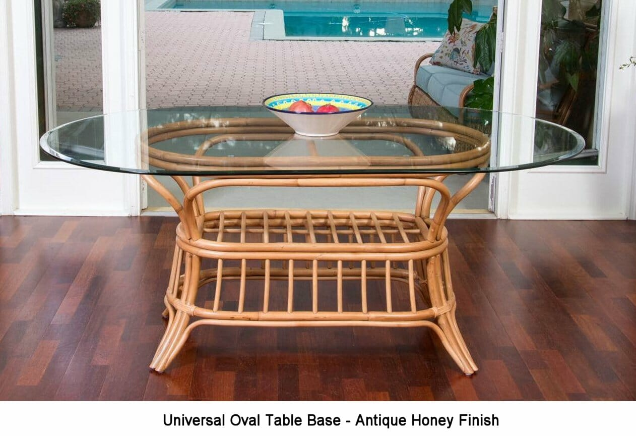 Universal Rattan Oval Dining Table