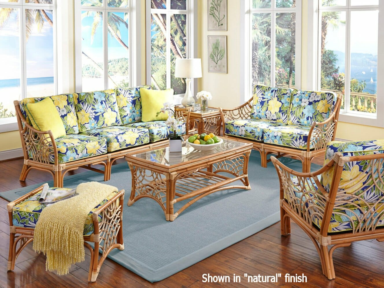 Wicker Rattan Living Room Furniture. Wave Crest Rattan Set Wicker Living Room Furniture  Sets