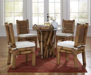 Peachy Indoor Rattan Wicker Dining Room Furniture Sets Customarchery Wood Chair Design Ideas Customarcherynet