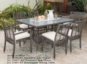 Greystone 7 pc outdoor wicker dining set