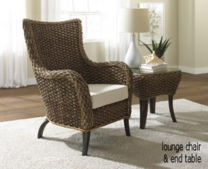 Bamboo Leaf Chair and Ottoman