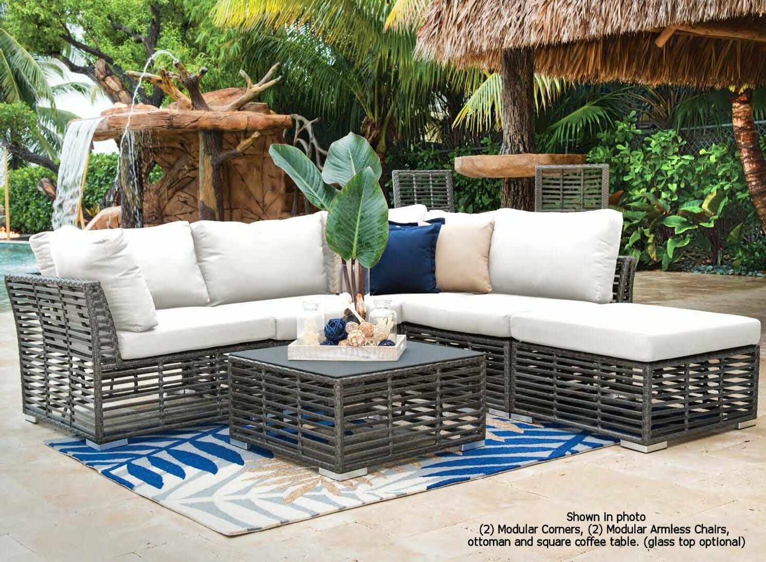 Greystone outdoor wicker sectional