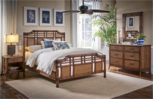 Palm Coast Rattan Wicker Bedroom Set