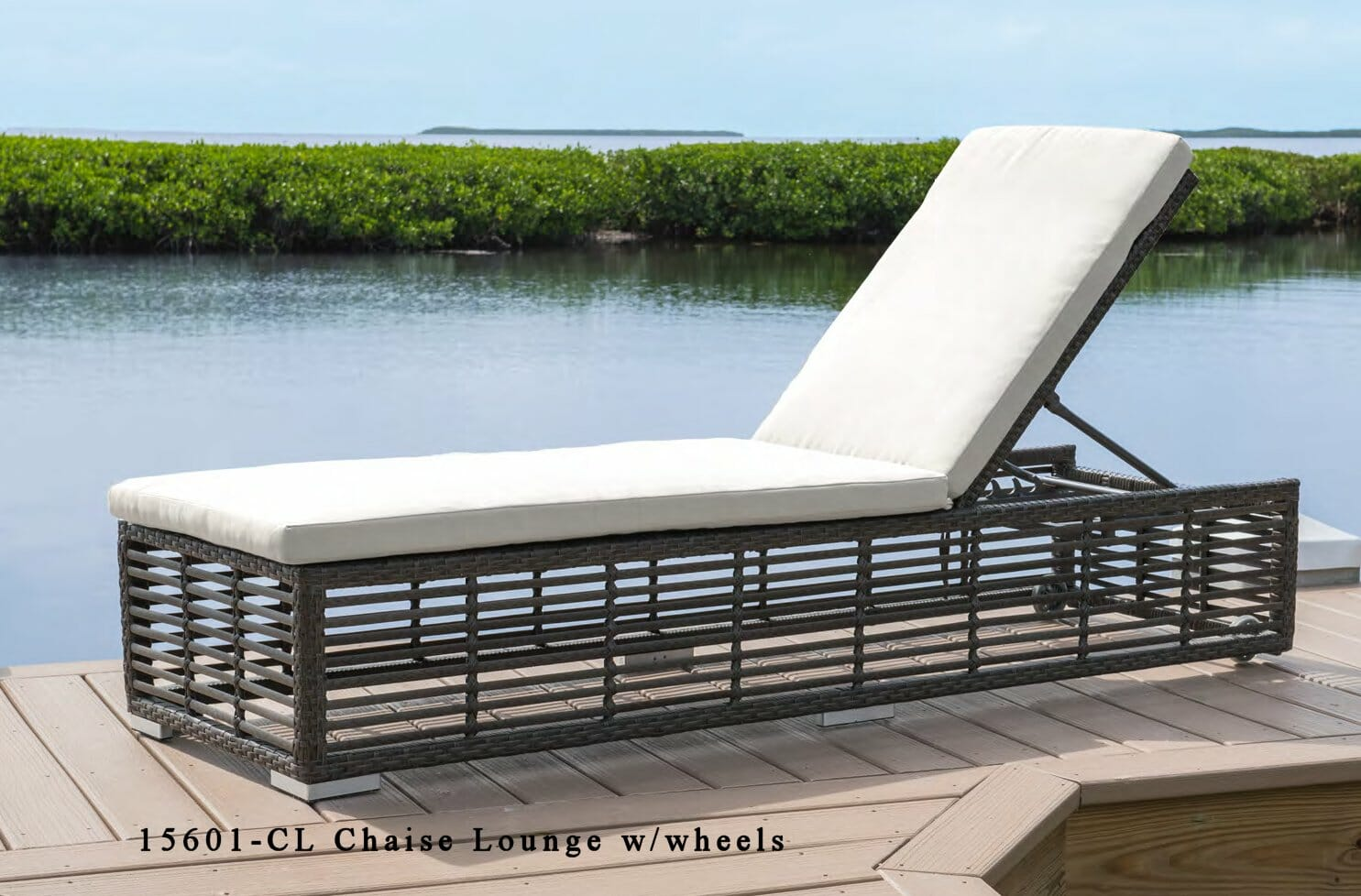 Greystone outdoor wicker chaise lounge