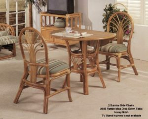 Wonderful Sunrise Rattan Chairs With Drop Down Table