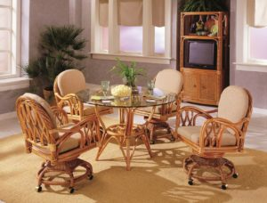 Rattan Wicker Dining Room Furniture Sets